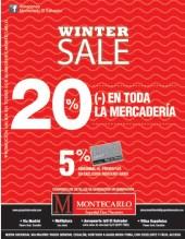 WINTER SALE en toda la mercaderia Montecarlo - 30sep13