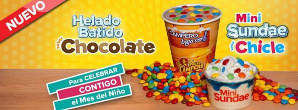 Batido de chocolate para niños POLLO CAMPERO