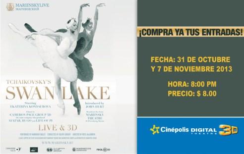 CINEPOLIS presenta Tchaikovskys SWANLAKE live and 3D