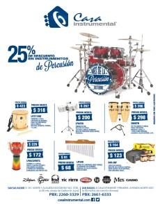 Casa Instrumental decuentos en percusion - 02oct13