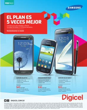 DIGICEL smart phone samsung galaxy promotion - 17oct13