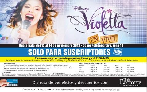Disney VIOLETTA concierto 2013 guatemala