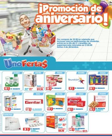 Farmacias UNO ofertas y promociones de aniversario - 16oct13