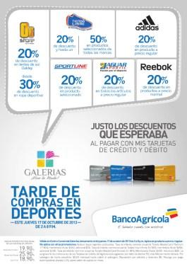 Galerias y Banco Agricola tarde de compras deportivas - 17oct13