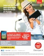 Internet CLARO mas tablet Huawei media pad 7 - 10oct13