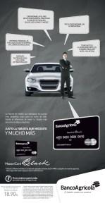 Master card Black de banco agricola