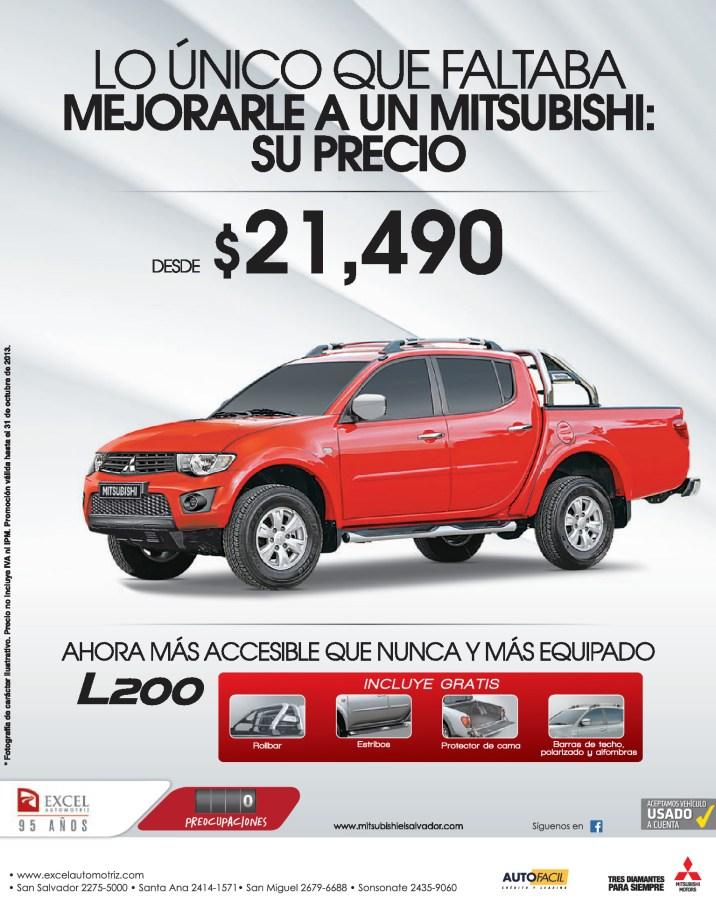 Mitsubishi L200 con mejor precio Excel Automotriz - 02oct13