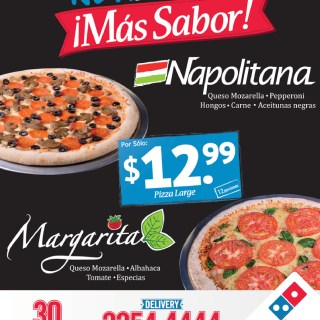 New Pizza mas sabor DOMINOS PIZZA - 07oct13