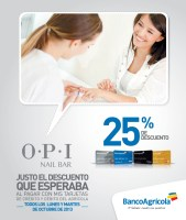 OPI Nail bar discounts Banco Agricola - 01oct13