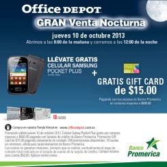 Office Depot gran venta nocturna - 10oct13
