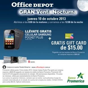 Office Depot gran venta nocturna - 10oct13