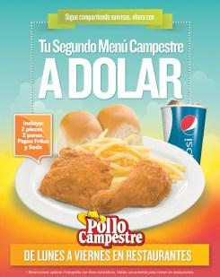 POLLO CAMPESTRE promocion segundo menu - 14oct13