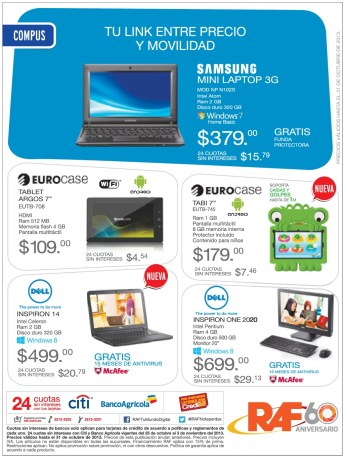 RAF promociones en tablets laptops y computadoras - 28oct13