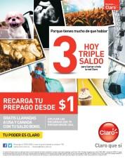 Recargas CLARO hoy triple saldo - 07oct13