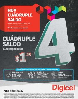 Recargas DIGICEL hoy cuadruple saldo - 23oct13