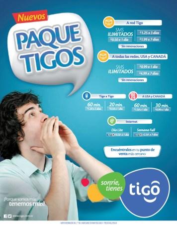 Recargas TIGO promocion nuevos paque tigos - 30oct13