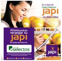 Recargas internet JAPI en super selectos - 24oct13