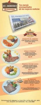 Restaurante el ARRIERO promocion de menus - 23oct13