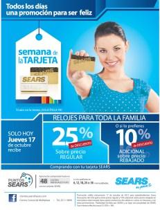 SEARS promocion de hoy jueves relojes - 17oct13