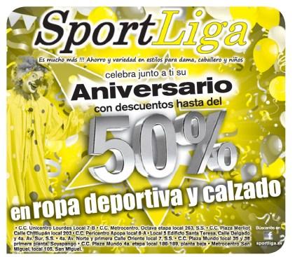 Sport Liga descuento en ropa deportiva y calzado - 30oct13