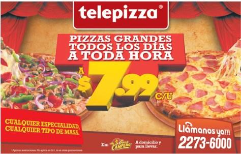 Telepizza pizzas grandes todos los dias - 30oct13