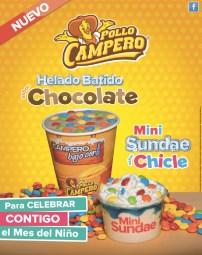 nuevo helado badito sabor chocolate POLLO CAMPERO - 01oct13
