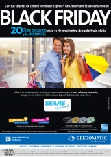 BLACK FRIDAY descuento al instante con tarjetas CREDOMATIC en SEARS - 21nov13