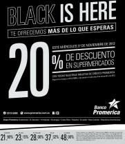Banco Promerica descuento en supermercados - 27nov13