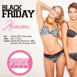 Black Friday promociones PINK STORE el salvador