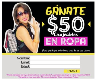 C&R Outfits promocion ganate vale en ropa nov13