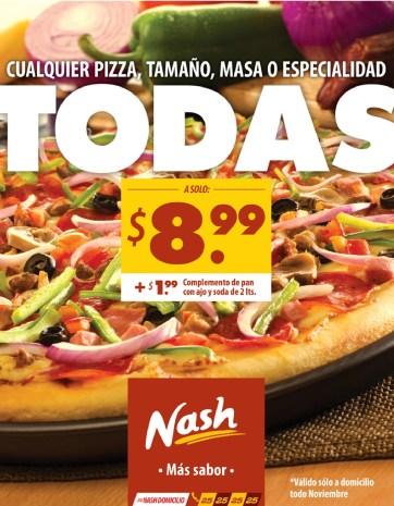 Cualquier pizza cualquier tamaño NASH promociones - 23nov13