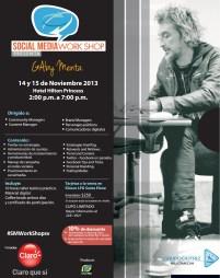 Descuento 10 OFF para asistir al SMWorkShopSV con Gaby Menta - 13nov13