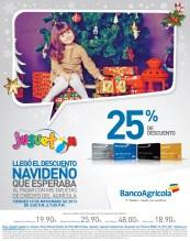 Descuento navideño en JUGUETON con tarjetas Banco Agricola - 15nov13