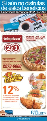 Descuentos pollo campero y telepizza club de lectores - 05nov13