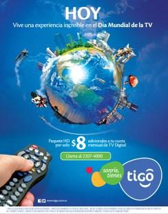 Dia mundial de la TV vivelo con paquete TIGO HD - 21nov13