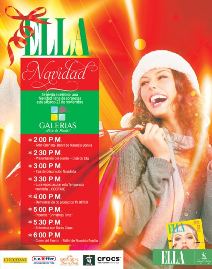 ELLA Navidad en GALERIAS TvOffer GRIIN SKIN TOTTO CROCS - 21nov13