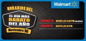 El Dia mas barato del año horarios walmart el salvador -15nov13
