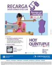 HOY quintuple saldo con Recarga CEL mensajito CREDOMATIC - 26nov13