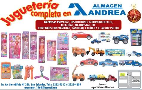 Jugueteria completa en Almacen ANDREA - 25nov13