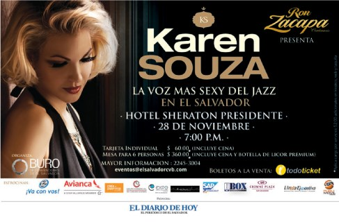 Karen Souza la voz mas sexy del Jazz en el salvador