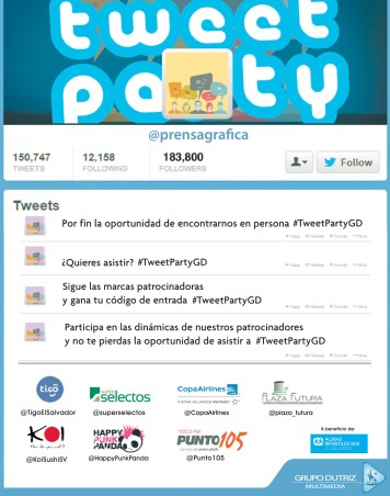 La Prensa Grafica te invita TWEET PARTY 2013