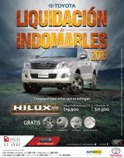 Liquidacion de indomables Toyota Hilux nov2013