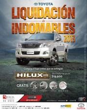 Liquidacion deIndomables TOYOTA Hilux - 25nov13