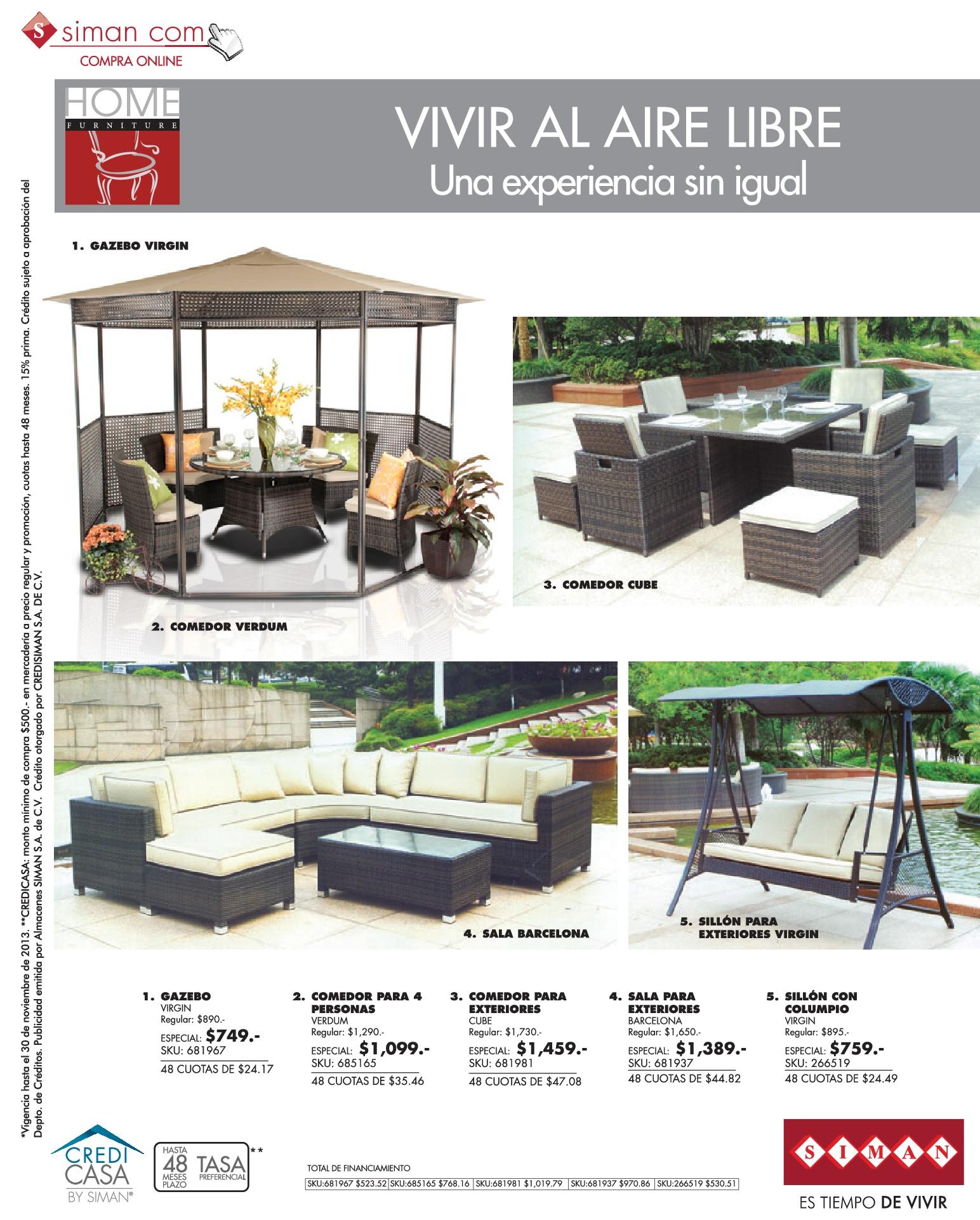 Muebles de jardin y terrazas SIMAN.com ofertas - 02nov13 ... - photo#22