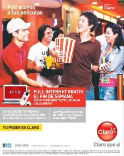 NETFLIX Full accesso a tus peliculas con internet CLARO - 04nov13