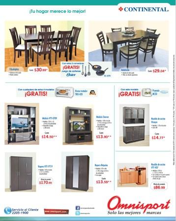 Ofertas OMNISPORT el salvador muebles y comedores - 08nov13