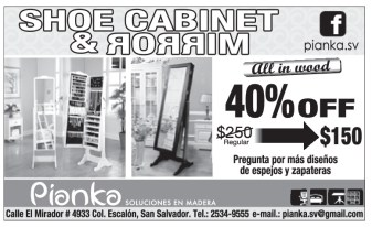 PIANKA shoe cabinet and mirror - 05nov13
