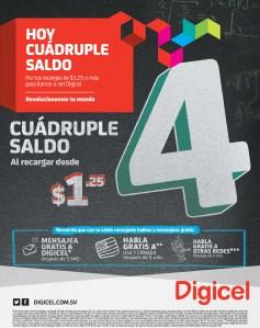 Promociones digicel HOY cuadruple saldo - 05nov13