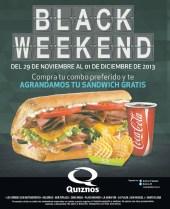 QUIZNOS promocion BLACK Weekend 2013