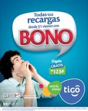 Recargas TIGO todas con bono hoy Miercoles - 13nov13